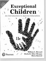 Exceptional Children : An Introduction To Special Education, 11th Edition [11ed.]  9353067545, 9789353067540