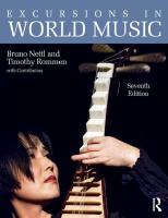 Excursions in World Music [7thed.]  978-1138101463