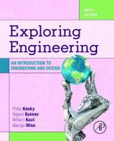 Exploring Engineering: An Introduction to Engineering and Design [5ed.]  0128150734, 9780128150733