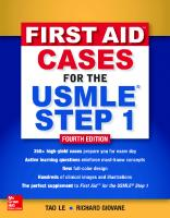 First Aid Cases For The USMLE Step 1 [4th Edition]  9781260143140