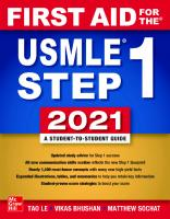 First Aid for the USMLE Step 1 2021  9781260467529, 126046752X