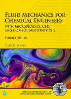 Fluid mechanics for chemical engineers [3ed.]  9780134712826, 013471282X