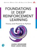 Foundations of Deep Reinforcement Learning: Theory and Practice in Python [1ed.]  9780135172384, 0135172381