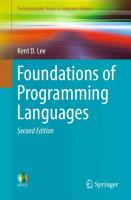 Foundations of Programming Languages  3319707892, 9783319707891