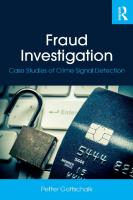 Fraud Investigation: Case Studies of Crime Signal Detection