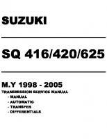 Full Service Manual  Vitara 1998-2005 (Transmission Service Manual)