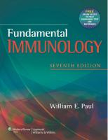 Fundamental Immunology [ch 1-27, Seventhed.]  1451117833, 9781451117837