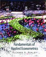 Fundamentals of Applied Econometrics  9780470591826, 2011041421