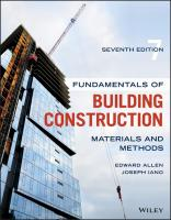 Fundamentals Of Building Construction: Materials And Methods, 7th Edition  1119446198,  9781119446194,  111945025X,  9781119450252