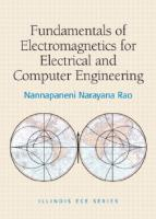 Fundamentals of electromagnetics for electrical and computer engineering  0136013333, 9780136013334