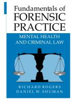 Fundamentals of Forensic Practice: Mental Health and Criminal Law [2005ed.]  0387252266, 9780387252261