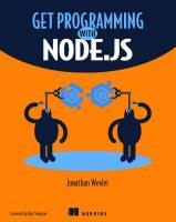 Get Programming with Node.js [1ed.]  1617294748,  978-1617294747