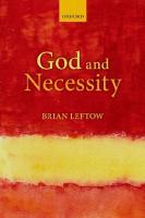 God and Necessity  019873896X