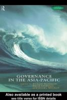 Governance in the Asia-Pacific  [1 ed.]