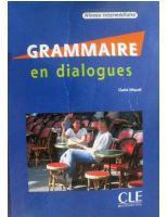 Grammaire En Dialogues: Niveau Intermediaire [With Cd (Audio)]  9782090352160, 2090352167