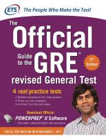 GRE The Official Guide to the Revised General Test, Second Edition [Second Edition]  007179123X