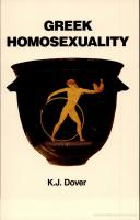 Greek Homosexuality Updated and with a new Postscript [revised]  9780674362703