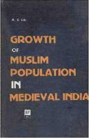Growth of Muslim Population in Medieval India (A.D. 1000-1800)