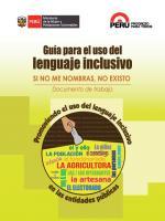 Guia Para El Uso Del Lenguaje Inclusivo