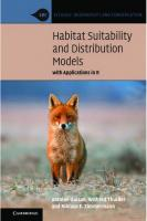 Habitat Suitability and Distribution Models: With Applications in R  0521765137, 9780521765138