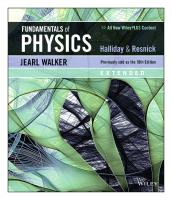 Halliday & Resnick - Fundamentals of Physics (11th ed.) [extended edition.]  9781119460138, 1119460131