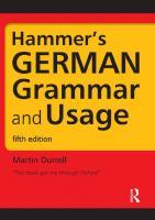Hammer's German grammar and usage [5th edition]  9781444120165, 9781444149708, 1444149709