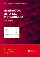 Handbook of drug metabolism [Third edition]  9781482262032, 1482262037, 9780429190315