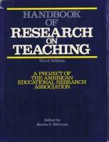 Handbook of Research on Teaching (Third Edition)