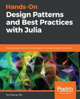 Hands-on Design Patterns and Best Practices with Julia  9781838648817