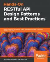 Hands-On RESTful API Design Patterns and Best Practices (java)(true pdf) [1ed.]  9781788992664