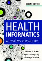 Health informatics : a systems perspective [Seconded.]  9781640550056, 1640550054