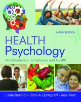 Health Psychology: An Introduction to Behavior and Health [9th ed.]