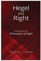 Hegel and Right: A Study of the Philosophy of Right  1438470797, 9781438470795