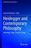 Heidegger And Contemporary Philosophy: Technology, Living, Society & Science [8, 1ed.]  3030565653, 9783030565657, 9783030565664