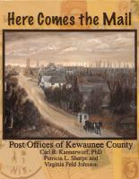 Here Comes the Mail, Post Offices of Kewaunee County