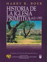 Historia De La Iglesia Primitiva (ad 1