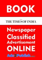 How to Book Ad Online for Times of India Newspaper