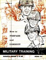 How to prepare and conduct military training