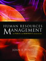 Human Resources Management for Public and Nonprofit Organizations: A Strategic Approach [4 ed.]