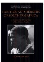 Hunters and Herders of Southern Africa: A Comparative Ethnography of the Khoisan Peoples