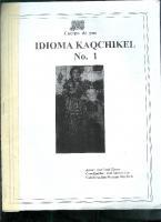 Idioma Kaqchikel No. 1
