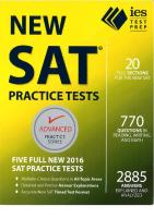IES New SAT Practice Tests