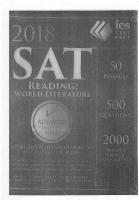 IES World Literature NEW SAT Reading Prep