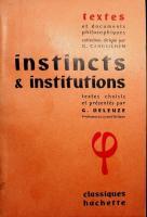 Instincts et institutions [Textes et documents philosophiquesed.]