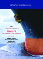 Instructions Manual to Serway and Jewett's Physics for Scientists and Engineers [6ed.]