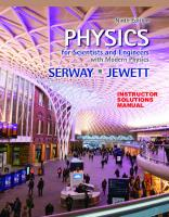 Instructor's Solutions Manuals for Physics for Scientists and Engineers 9th Edition [9thed.]