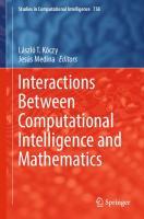 Interactions Between Computational Intelligence and Mathematics  3319746804, 9783319746807