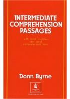 Intermediate Comprehension Passages (Properly Bookmarked) [1ed.]  0582523869, 9780582523869