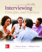 Interviewing: Principles and Practices [Fifteenth edition.]  1259870537, 9781259870538