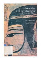 Introduccion A La Egiptologia